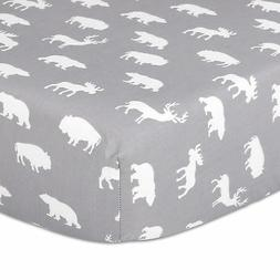 Woodland Trail Animal Silhouette Grey Forest Animal Theme Fi
