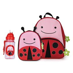 Skip Hop Zoo Backpack, Lunchie, and Bottle Set - Ladybug